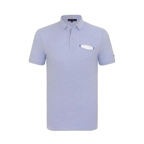 Harden Short Sleeve Polo Shirt // Blue (XS)