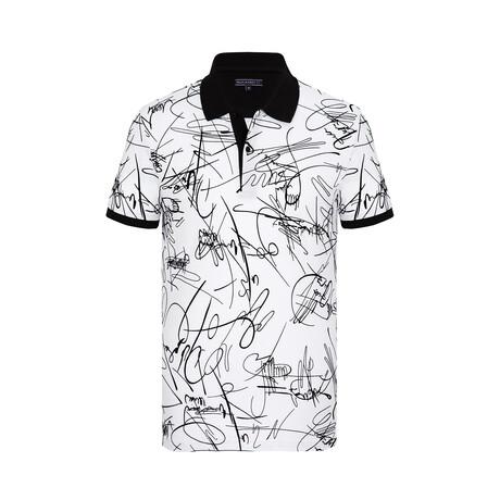 George Short Sleeve Polo Shirt // White (XS)