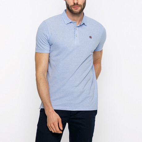 Travis Short Sleeve Polo Shirt // Blue (XS)