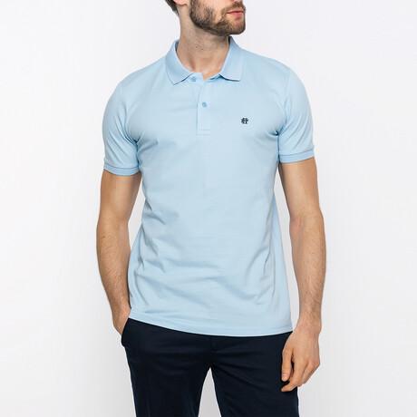 Ian Short Sleeve Polo Shirt // Blue (XS)