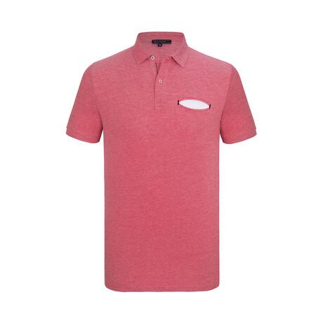 Aiden Short Sleeve Polo Shirt // Bordeaux (XS)