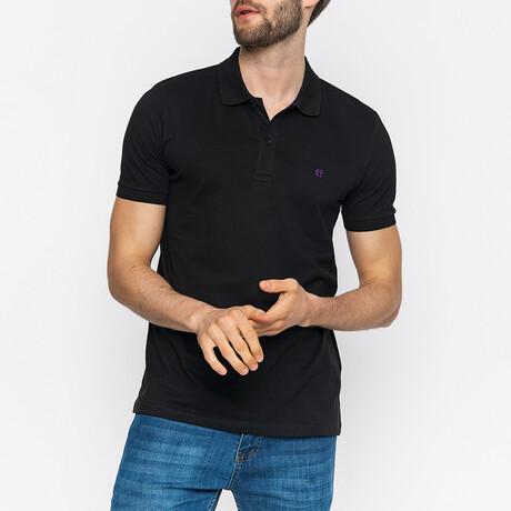 Vince Short Sleeve Polo Shirt // Black (XS)