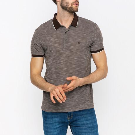 Sutton Short Sleeve Polo Shirt // Brown (XS)