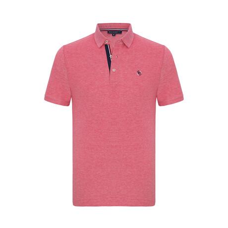 Jax Short Sleeve Polo Shirt // Bordeaux (XS)