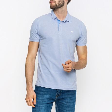Zane Short Sleeve Polo Shirt // Blue (XS)
