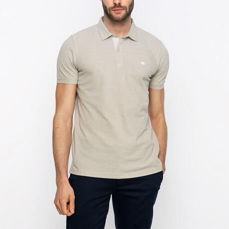 Dean Short Sleeve Polo Shirt // Beige (XS)