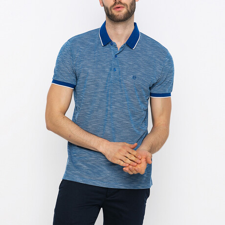Brady Short Sleeve Polo Shirt // Sax (XS)