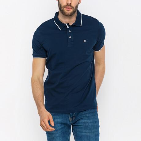 Steve Short Sleeve Polo Shirt // Navy (XS)
