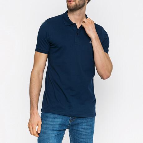 Wyatt Short Sleeve Polo Shirt // Navy (XS)
