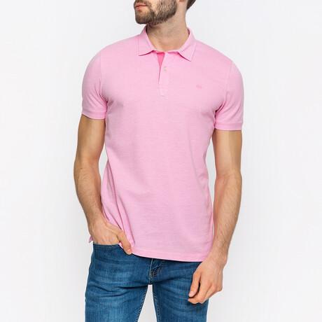 Kyle Short Sleeve Polo Shirt // Pink (XS)