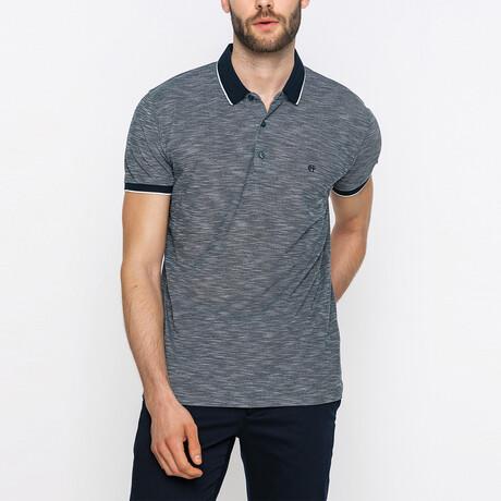 Fallon Short Sleeve Polo Shirt // Dark Gray (XS)