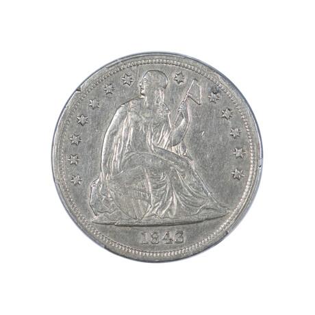 1843 Seated Liberty Dollar // PCGS Certified XF40