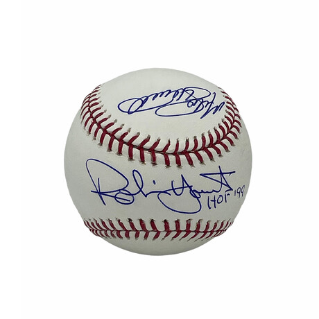 Robin Yount, Mike Schmidt & Andre Dawson // Signed Baseball
