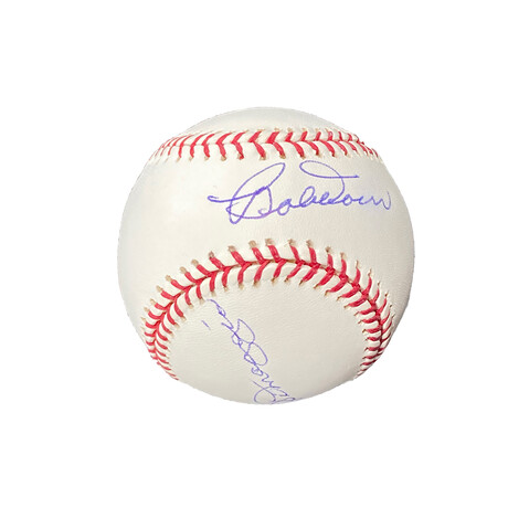 Dom Dimaggio & Bobby Doerr // Signed Baseball // Boston Red Sox