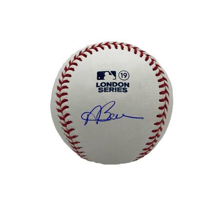 Andrew Benintendi // Signed London Series Baseball // Boston Red Sox