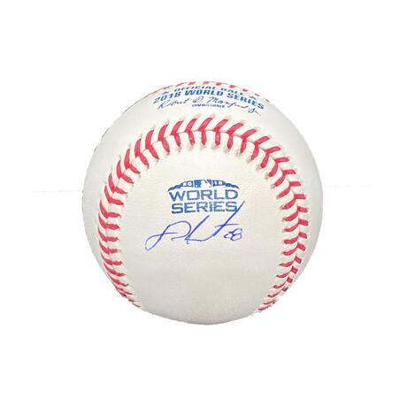 J.D. Martinez // Signed World Series Baseball // Boston Red Sox
