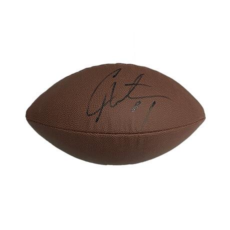 Cam Newton // Signed Football // New England Patriots