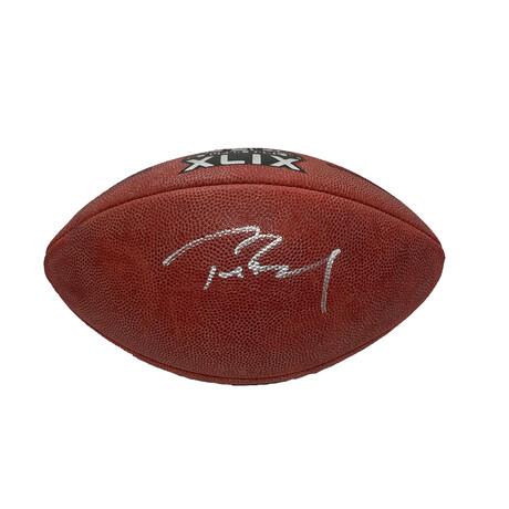 Tom Brady // Signed Super Bowl XLIX Football // New England Patriots