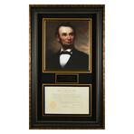 Abraham Lincoln // Framed Photo + Hand-Signed Document