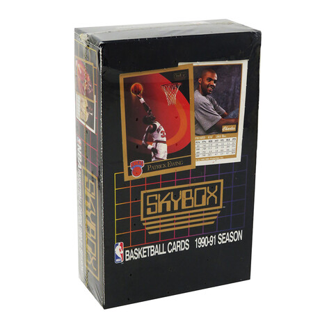 Basketball Cards Mystery Pack // 1990-91 Skybox Series 1 // Factory-Sealed + Unopened Box // 36 Packs Inside