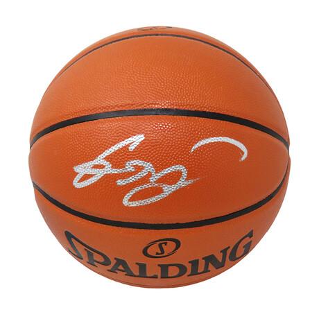 Gordon Hayward // Signed Spalding Game Series Replica NBA Basketball