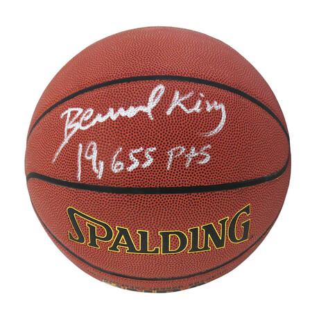 "Bernard King // Signed Spalding NBA Basketball // With ""19,655 Pts"" Inscription"