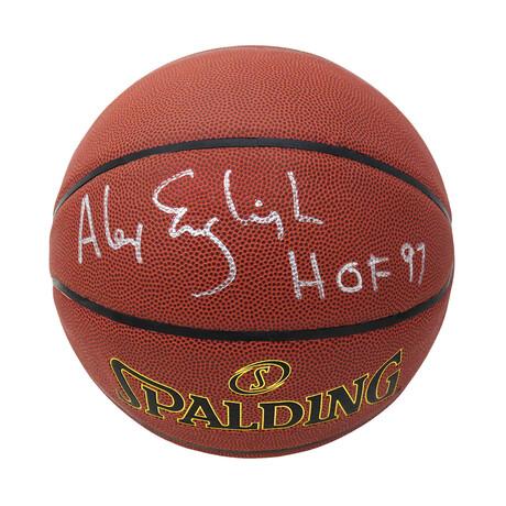 "Alex English // Signed Spalding NBA Basketball // With ""HOF'97"" Inscription"