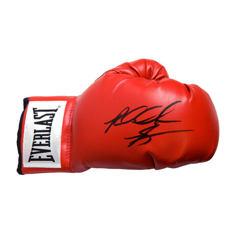 Riddick Bowe // Signed Everlast Boxing Glove // Red