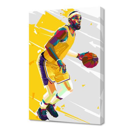 """Lebron James III // Limited Edition (12""""H x 8""""W x 0.2""""D)"""