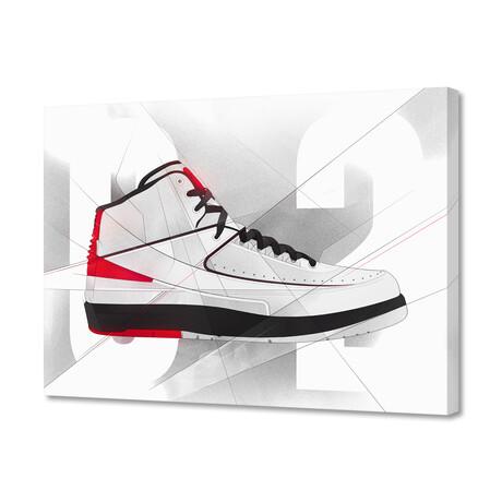 """Air Jordan 02's (8""""H x 10""""W x 0.2""""D)"""