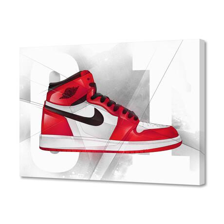 """Air Jordan 01's (8""""H x 10""""W x 0.2""""D)"""