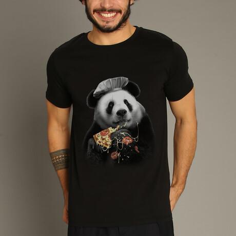 Panda Pizza T-Shirt // Black (S)