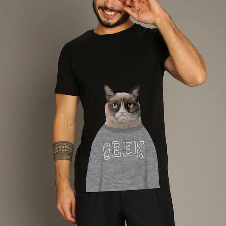 Grumpy Cat T-Shirt // Black (S)