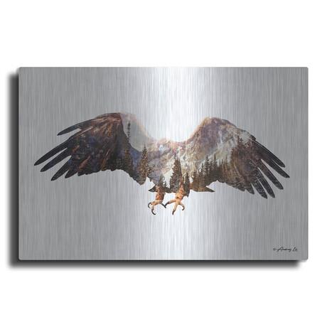 "Arctic Eagle (12""H  x 16""W  x  0.13""D)"
