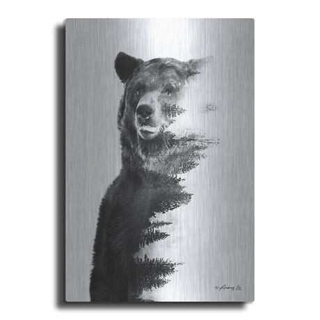 "Black and White Bear 1 (12""H  x 12""W  x  0.13""D)"