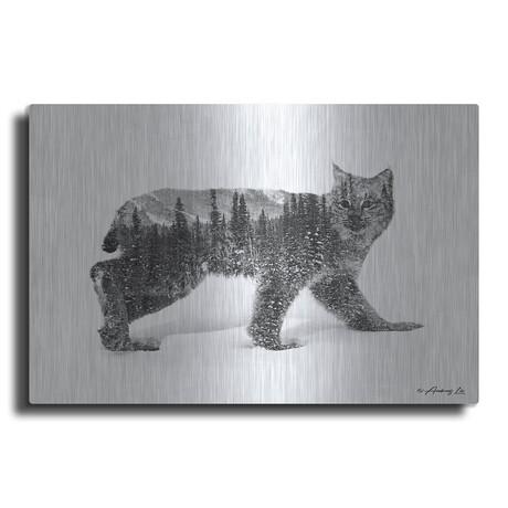 "Black and White Bobcat (12""H  x 16""W  x  0.13""D)"