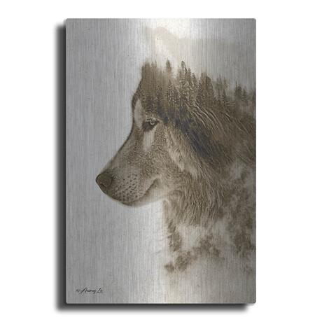 """Wolf in Beige (16""""H  x 12""""W  x  0.13""""D)"""