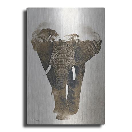 """Elephant in Beige (16""""H  x 12""""W  x  0.13""""D)"""