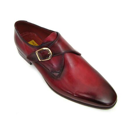 Single Monkstrap Shoes // Burgundy (US: 7)