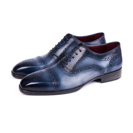 Cap Toe Oxfords // Blue + Navy (US: 7)