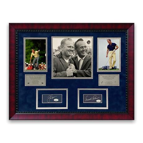Arnold Palmer & Jack Nicklaus // Framed + Signed Photograph