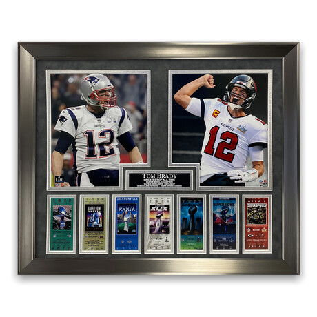 Tom Brady // Patriots + Buccaneers // Unsigned Framed Photograph