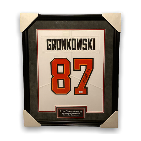 Rob Gronkowski // Tampa Bay Buccaneers // Framed + Signed Jersey // White