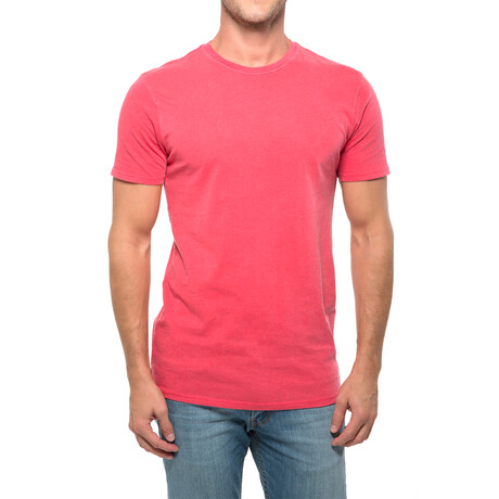 Pigment Dye T-Shirt // Red (XS)