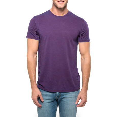 Chelsea Cross Dyed T-Shirt // Berry (XS)
