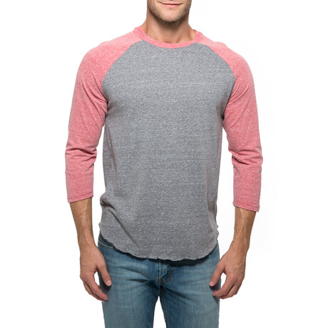 Raglan T-Shirt // Gray + Red (XS)