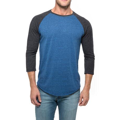 Raglan T-Shirt // Gray + Royal (XS)