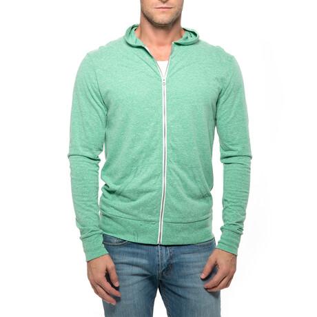 College Point Full-Zip Hoodie // Green (XS)