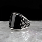 Curved Onyx Ring (8.5)