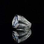 Hand Engraved Tanzanite Ring (9)
